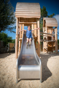 Play and activity areas for the young in camping le Petit Paris