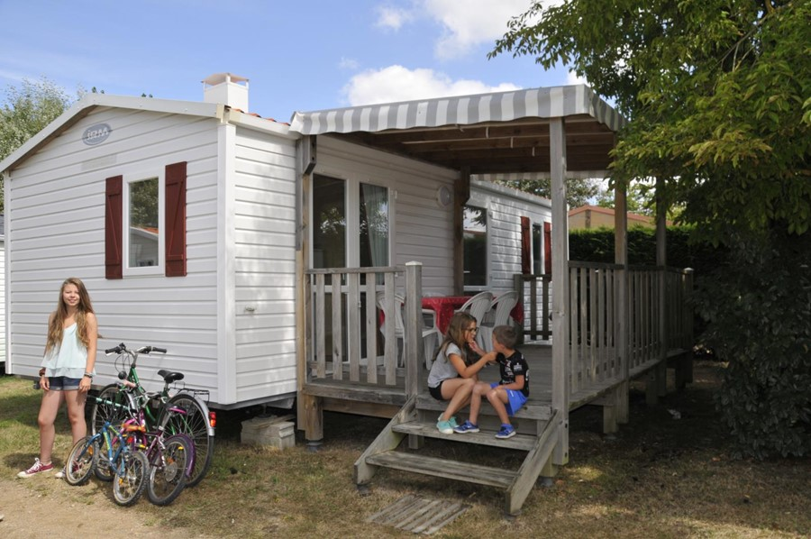 Excellent Mobilhome Grand Confort M Chambres Terrasse Couverte With Couverture  Terrasse Mobil Home